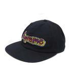 シュプリーム SUPREME 未使用 SUPREME シュプリーム Mark Gonzales マークゴンザレス Gonz Logo 6-Panel  ゴンズロゴ 6パネル キャップ 帽子 ブラック ☆AA★