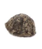 カシラ CA4LA 美品 CA4LA カシラ ラビットファー キャップ 帽子 ベージュ ブラウン系