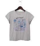 ロペ ROPE ROPE ロペ プリント ロールアップ デザイン 半袖 Tシャツ カットソー M ライトグレー