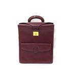 カルティエ Cartier Cartier カルティエ マストライン ロゴ カーフ レザー 錠前 トート ビジネス バッグ 書類鞄 かばん ボルドー