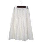 ロペ ROPE スカート 9 白 ホワイト 総レース ミモレ フレア