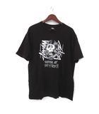ステューシー STUSSY アベイシングエイプ A BATHING APE Tシャツ M 黒 ブラック 半袖 スカル プリント カットソー