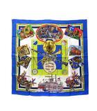 エルメス HERMES THE ORIGINAL NEW ORLEANS CREOLE JAZZ 1923 スカーフ シルク カレ 90 美品 ★AA☆
