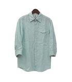 タケオキクチ TAKEO KIKUCHI ティーケー TK シャツ 3 L 緑 グリーン リネン 七分袖 無地 シンプル