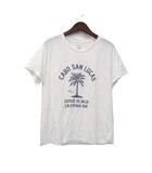 マカフィー MACPHEE トゥモローランド Tシャツ S 白 ホワイト 半袖 プリント カレッジ カットソー 美品