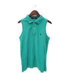 ラルフローレン RALPH LAUREN POLO SPORT ポロシャツ M 緑 グリーン ノースリーブ 鹿の子 ポニー 刺繍 無地 シンプル