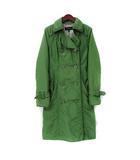 エポカ EPOCA コート 40 M 緑 グリーン ダブル 中綿 トレンチ ベルト付 美品