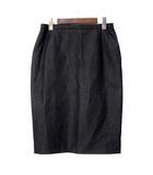 バリー BALLY スカート 40 L 灰 グレー ウール ひざ丈 無地 シンプル