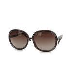 サングレス 茶 ブラウン カラーレンズ ビッグフレーム オーバル 眼鏡 CL2119 C07 135