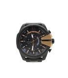 腕時計 黒 ブラック メガチーフ Mega Chief クォーツ DZ4309 美品