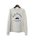 デザインティーシャツストア Design Tshirts Store スウェット トレーナー SS グレー 長袖 霜降り フロッキー 美品