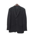 スーツ 黒 ブラック ウール 2B テーラード ジャケット パンツ スラックス 上下 セットアップ