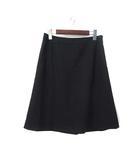 ザ・スーツカンパニー THE SUIT COMPANY スカート 42 XL 黒 ブラック ウール ミニ スーツ 無地 シンプル 美品