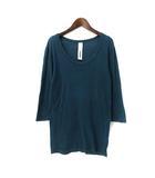 アタッチメント ATTACHMENT Tシャツ 2 M 緑 グリーン コットン 七分袖 無地 シンプル