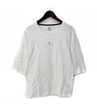 アールニューボールド R.NEWBOLD Tシャツ S 白 ホワイト コットン 五分袖 プリント 135331