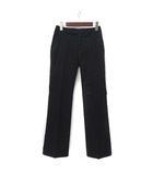 パンツ 58 黒 ブラック ブーツカット 無地 シンプル 美品