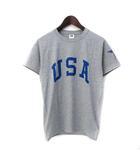 フルーツオブザルーム FRUIT OF THE LOOM Tシャツ S 灰 グレー コットン 半袖 プリント