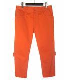 エムエムシックス MM6 メゾンマルジェラ Maison Margiela パンツ 42 L オレンジ テーパード コットン 52LA0043 44670 17SS ◎