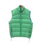 コロンビア Columbia ダウン ベスト L 緑 グリーン ナイロン ジップアップ ロゴ 刺繍