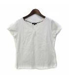 バーバリー ロンドン BURBERRY LONDON Tシャツ 2 M 白 ホワイト コットン 半袖 無地 レース