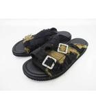 クリスチャンダダ CHRISTIAN DADA 18SS Crust Patch Sandals パッチワークサンダル 27cm 黒【ブランド古着ベクトル】【中古】190412