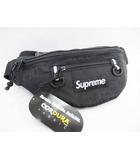 シュプリーム SUPREME 未使用品 19SS Waist Bag Black コーデュラ ウエストバッグ 黒【ブランド古着ベクトル】【中古】190405☆AA★