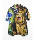 シュプリーム SUPREME 18SS ×Lee Quinones Lion's Den Shirt ライオン プリント 半袖 シャツ M【ブランド古着ベクトル】【中古】190420☆AA★