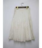 マーガレットハウエル MARGARET HOWELL 裾シルクレース ロングスカート 3【ブランド古着ベクトル】【中古】190413★