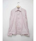 グッチ GUCCI ストライプ Yシャツ 長袖カフス シャツ 42 ピンク 【ブランド古着ベクトル】【中古】190422