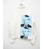 カルバンクラインジーンズ Calvin Klein Jeans ANDY WARHOL アンディ ウォーホール プリント ホワイト デニムジャケット S【ブランド古着ベクトル】【中古】190524