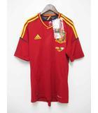 アディダス adidas 未使用品 サッカー スペイン 代表 EURO 2012 記念 レプリカ ユニフォーム 半袖 Tシャツ 赤 M【ブランド古着ベクトル】【中古】190916★