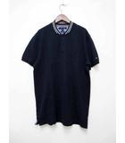 トミーヒルフィガー TOMMY HILFIGER ベースボールカラーポロシャツ 半袖 XL 【ブランド古着ベクトル】【中古】191111★