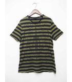 グッチ GUCCI 256053-X3566  ボーダー プリント 半袖 TシャツS【ブランド古着ベクトル】【中古】200203★040