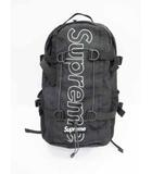 シュプリーム SUPREME 18AW BackPack バックパック フロントロゴ リュック Black 黒【ブランド古着ベクトル】【中古】200206☆AA★