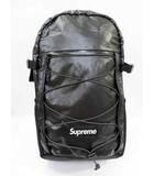 シュプリーム SUPREME 17AW Supreme 100D Cordura laminated ripstop nylon Backpack バックパック 黒 ブラック Black 【ブランド古着ベクトル】【中古】 200512 ☆AA★ 080