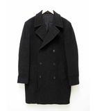 アニエスベーオム Agnes b. homme フランス製 ウール Pコート ピーコート サイズ 1 ブラック系【ブランド古着ベクトル】【中古】200529