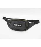 シュプリーム SUPREME 17SS Leather waist bag レザー ウエストバッグ ボディバッグ 黒 ブラック Black【ブランド古着ベクトル】【中古】200614☆AA★