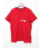 アーペーセー A.P.C. Carhartt カーハート コラボ Red Pocket Tee 半袖 ポケット Tシャツ レッド S【ブランド古着ベクトル】【中古】200803
