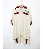 ミハラヤスヒロ MIHARA YASUHIRO Maison Mihara Yasuhiro 刺繍 ボーリングシャツ ロング  【ブランド古着ベクトル】【中古】200807