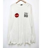 ステューシー STUSSY WORLD TRIBE プリント ロンT Tシャツ 長袖 L ホワイト 【ブランド古着ベクトル】【中古】 200802 ★