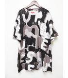 シュプリーム SUPREME 20SS Painted Logo S/S Top 総柄 半袖 プリント Tシャツ XL ブラック Black【ブランド古着ベクトル】【中古】200918☆AA★