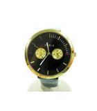 フルラ FURLA METROPOLIS 38mm MULTI BLACK 4251102501 メトロポリス クォーツ 腕時計 ブラック 【ブランド古着ベクトル】【中古】210420★