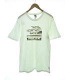 シュプリーム SUPREME 18SS The North Face Metallic Logo Tee M サイズ ノースフェイス コラボ メタリック ロゴ Tシャツ ホワイト 白 【ブランド古着ベクトル】【中古】210301☆AA★