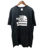 シュプリーム SUPREME 18SS THE NORTH FACE Metallic Logo T-shirt ノースフェイス メタリック ロゴ Tシャツ 半袖 M ブラック 【ブランド古着ベクトル】【中古】 210221 ☆AA★