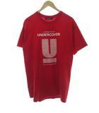 アンダーカバー UNDERCOVER 25周年回顧展記念 LABYRINTH OF UNDERCOVER プリント 半袖 Tシャツ 赤 Red L【ブランド古着ベクトル】【中古】210318