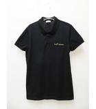 17SS Sweet Dreams Embroidered Polo Shirt 半袖 刺繍ロゴ ポロシャツ ブラック M【ブランド古着ベクトル】【中古】210506