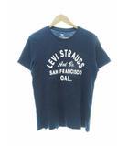 リーバイス Levi's フロント プリント 半袖 Tシャツ M 紺 ネイビー 【ブランド古着ベクトル】【中古】210512 ★