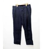 グッチ GUCCI indigo color slim work pants  ニューショートチノパンツ 48【ブランド古着ベクトル】【中古】210821