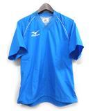 ミズノ MIZUNO テニス ウインド シャツ SS 青 ブルー 半袖 ウォームアップ シャツ  Vネック ロゴ 半袖 A75NB090 Ω