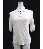 マカフィー MACPHEE トゥモローランド ニット ポロシャツ 1 S ピンク アンゴラ混 五分袖 無地 ポケット Ω